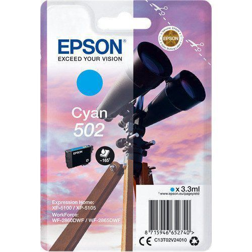 Epson Epson 502 (C13T02V24010) ink cyan 165 pages (original)