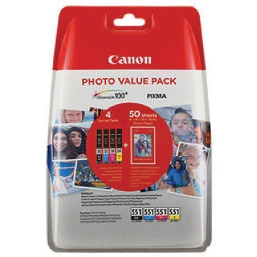 Canon Canon CLI-551 (6508B005) valuepack c/m/y/bk 50bl (original)