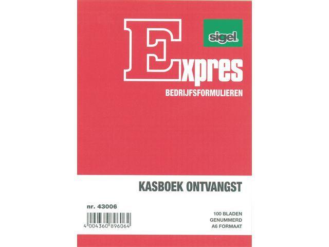 Sigel Expres Kasbewijs Sigel A6 ontvangst 100 bl/wr5