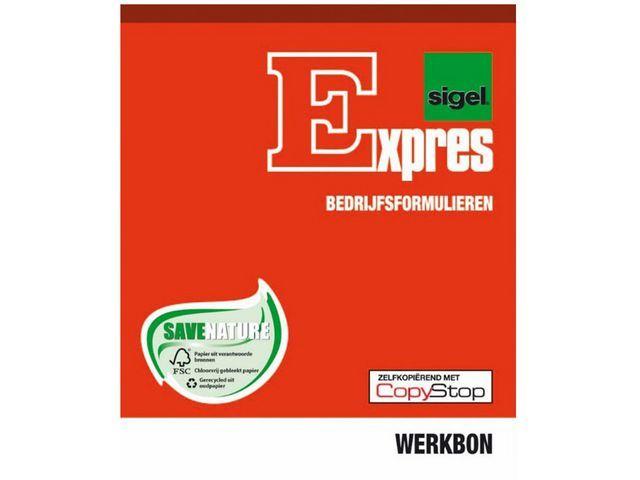 Sigel Expres Werkbonblok Sigel A5 duplo 2x50 bl/wr5
