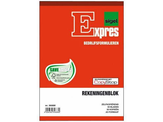 Sigel Expres Rekeningblok Sigel A5 duplo 2x50 bl/wr5