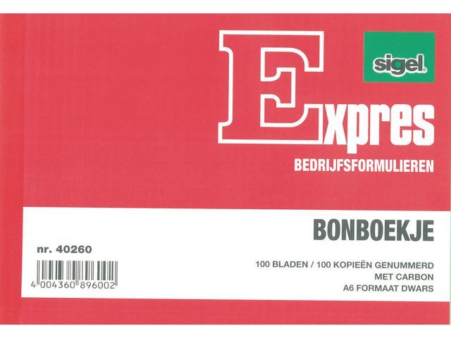 Sigel Expres Bonboekje Sigel A6 2x100 bl/wr 5