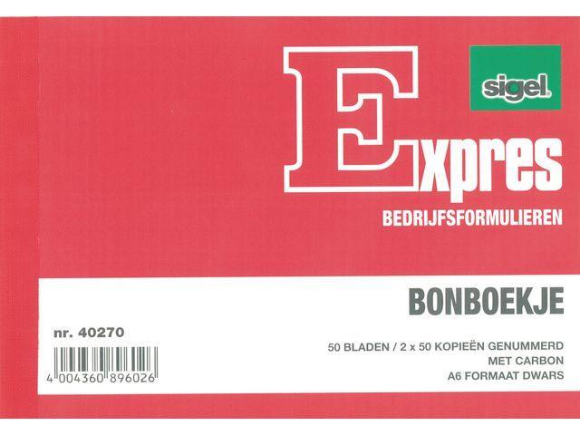 Sigel Expres Bonboekje Sigel A6 3x50 bl/wr 5