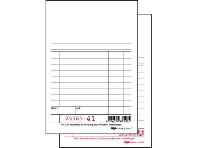 Sigel Expres Kassablok Sigel 150x110 duplo 2x50b/wr10