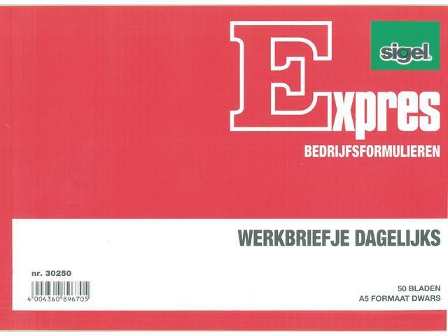 Sigel Expres sigel Kas- en kwitantieformulieren Bonboekje. A6. 2x50 vel (krimp 5 stuks)