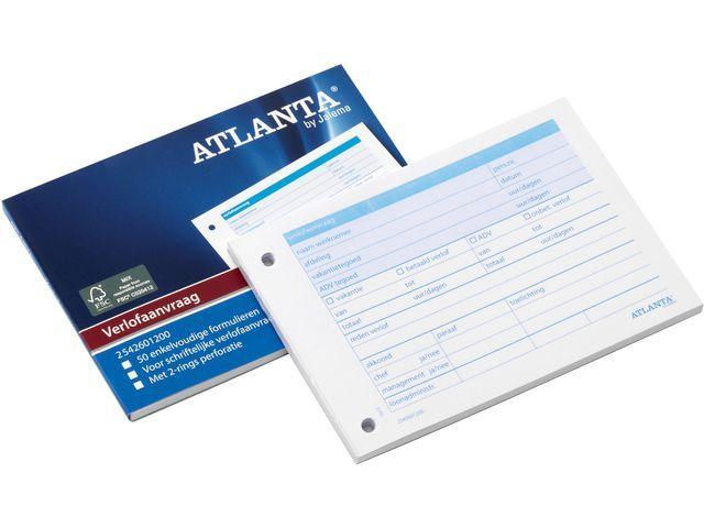 ATLANTA Verlof aanvraagbon e.v./blok 50v