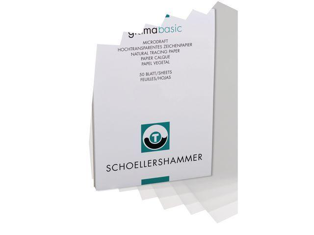 SCHOELLERSHAMMER Tekenpapier transp. A3 90-95g/blok 50v