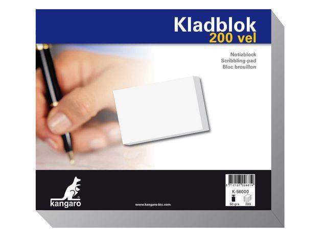 Kangaro Kladblok Kangaro 230x198 blanco/pk 5