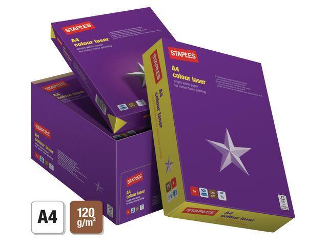 Staples Papier SPLS A4 120g Col laser /250v