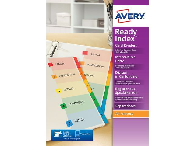 Avery Tabblad Avery A4XL 9R Readyindex/set 12
