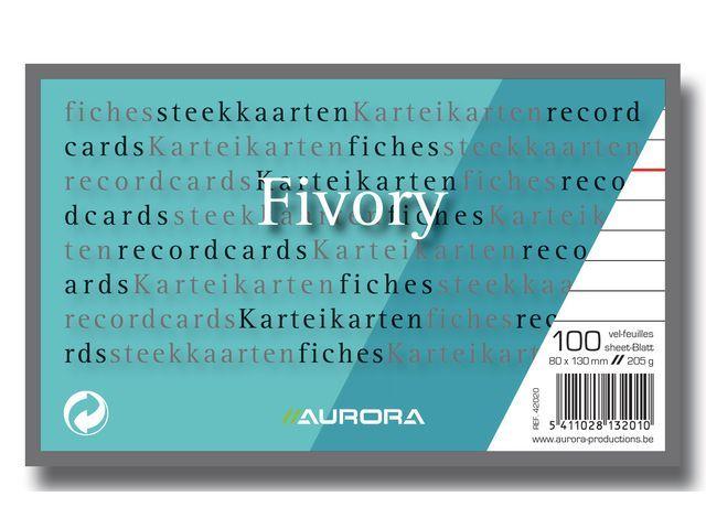 AURORA Systeemkaart Aurora 80x130 wit/pak 100