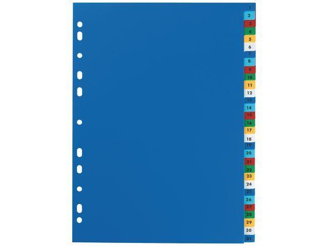 Elba Tabblad ELBA A4 11R PP 1-31 kleur/set 31