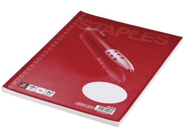 Staples Interieurpapier SPLS 23r 70g lijn/pk100v