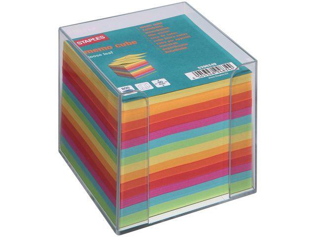 Staples Memobakje SPLS kubus met blok gekleurd