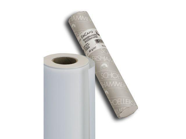 SCHOELLERSHAMMER Tekenpapier transp. 33cm 50gr/rl50m
