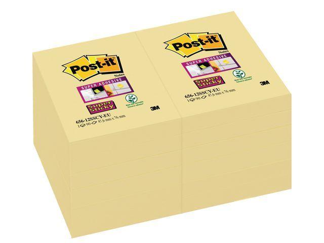 Post-it® Notitieblok Super Sticky 47.6x76 gl/pk12