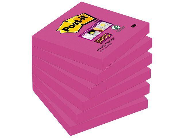 Post-it® Notitieblok SuperSticky 76x76 fuchsia/p6