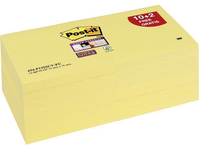 Post-it® Notitieblok SuperSt. 76x76 kan.gl/pk12