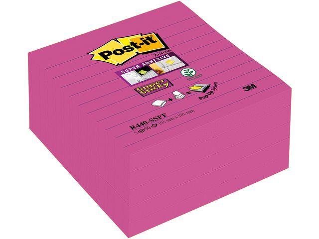 Post-it® Notitieblok SuperSt. 101x101mm rz/pk5