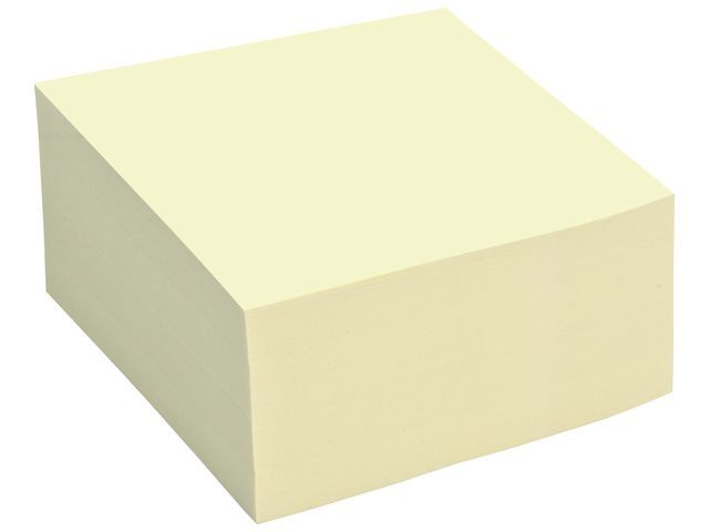 Staples Notitieblok SPLS 76x76mm geel/blok 400