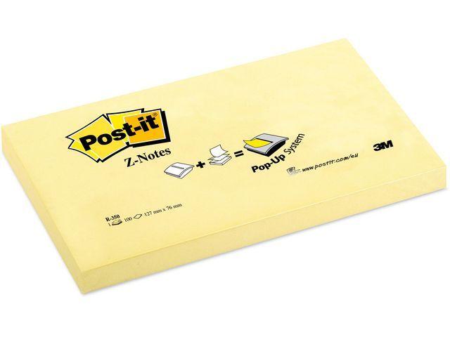 Post-it® Notitieblok Z-note 127x76mm geel/pak 12