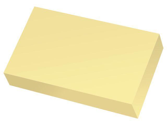 Staples Notitieblok SPLS 51x76mm geel/pak 12