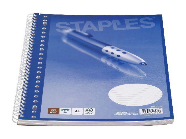 Staples Collegeblok SPLS A4+ 23gt 80v lijn/pak 5