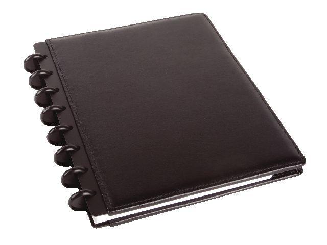 M by Staples Notitieboek ARC A5 lijn leer zwart