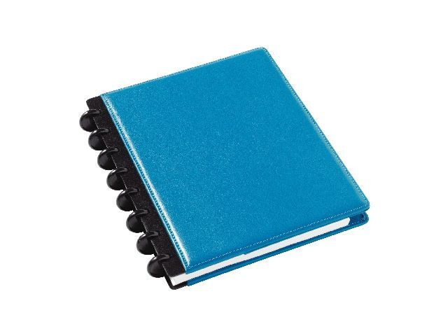 M by Staples Notitieboek ARC A5 lijn leer blauw