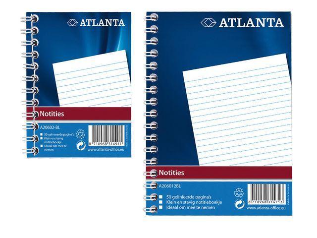 ATLANTA Registerboek Atlanta 105x 74 50bl blauw