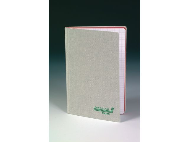 AURORA Registerboek 125x195 linn. ruit 5mm 96bl