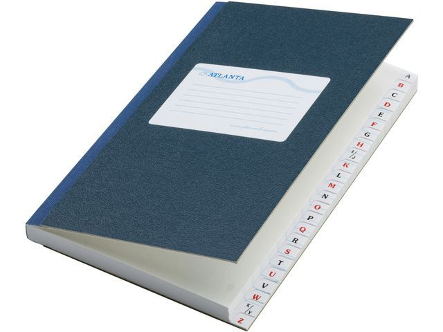 ATLANTA Registerboek 210x165 alfab 200blz bl/pk5