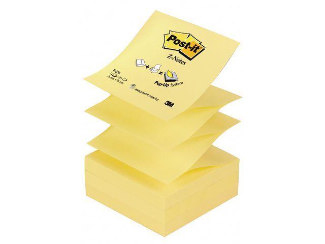 Post-it® Notitieblok Z-note 76x76mm geel/pak 12