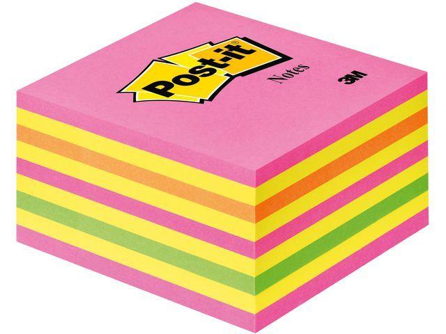 Post-it® Notitieblok Postit 76x76 neonkleuren/450