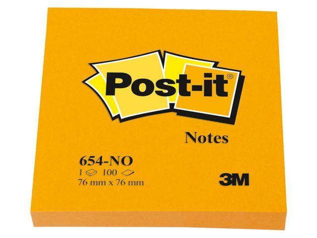 Post-it® Notitieblok Post-It 76x76mm neon or/pk 6