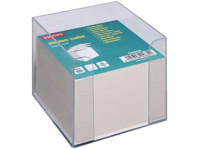 Staples Memobakje SPLS kubus met blok wit