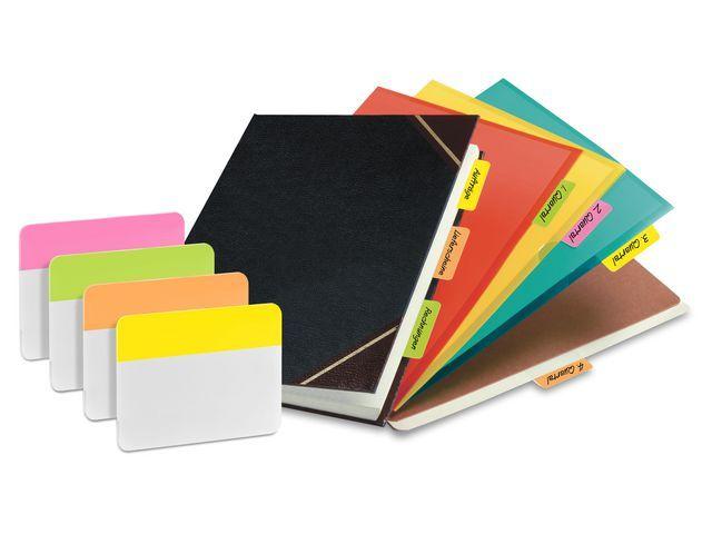 Post-it® Index Strong Tabs ordner neon kleur/p4x6