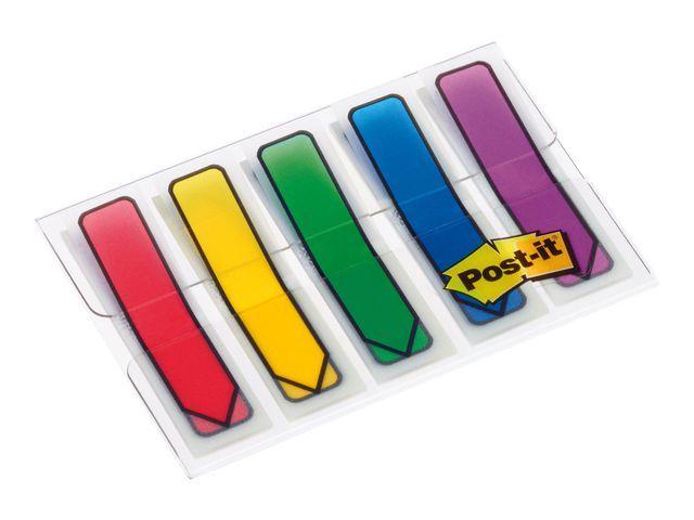 Post-it® Index Post-It pijlen rd/bl/gl/gr/pr/5x20