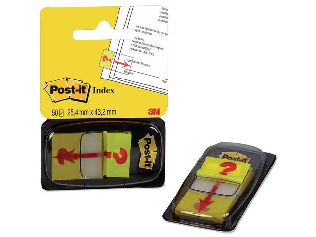 Post-it® Index Post-It vraagteken/pak 50