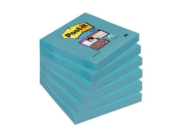 Post-it® Notitieblok Super Sticky 76x76 el.bl/pk6