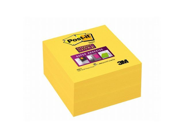 Post-it® Notitieblok Super Sticky 76x76 gl/bl350v
