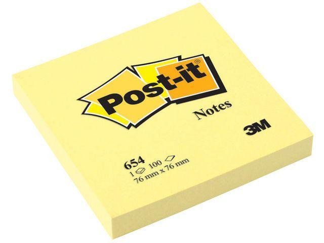 Post-it® Notitieblok Post-it 76x76 kan.geel/pk12