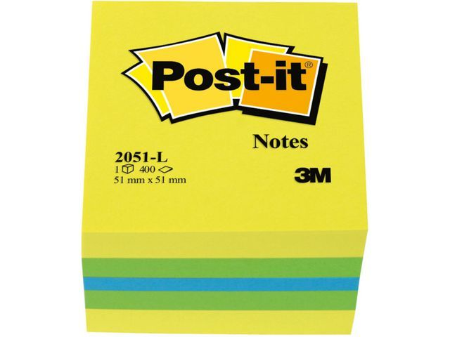 Post-it® Notitieblok Post-It 51x51 citroen/bl400v