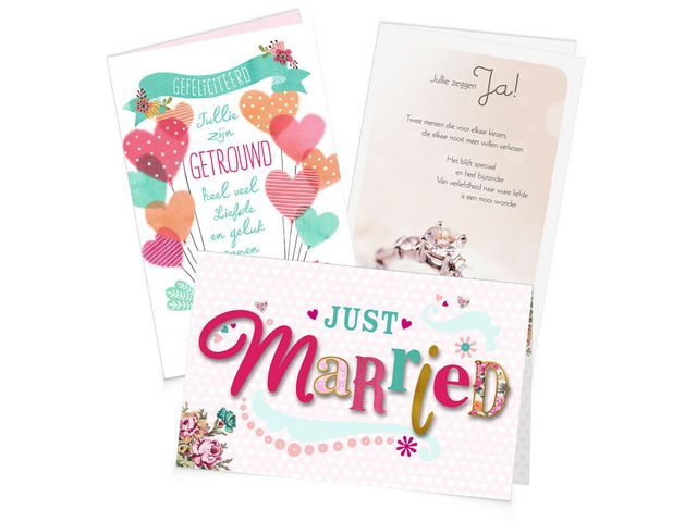 Hallmark Wenskaart Hallmark huwelijk NL/set 6