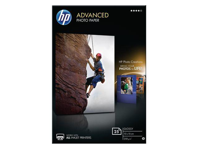 HP Papier HP 10x15 Adv. Gl. 250g/ds 25v