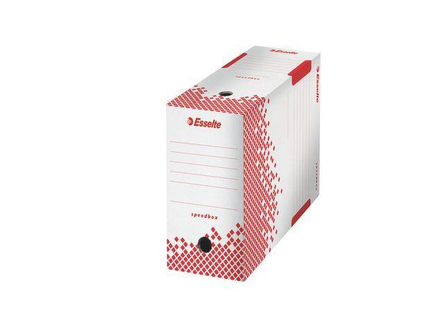 Esselte Esselte Archiefdoos Speedbox 350 x 275 x 150 mm. wit/rood (pak 25 stuks)