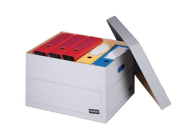 Staples Staples Archiefcontainer met deksel 413 x 330 x 266 mm. bruin (doos 10 stuks)