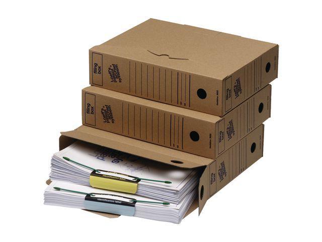 Loeff's Patent Loeff's Patent Archiefdoos Filing box 345 x 250 x 80 mm (pak 50 stuks)