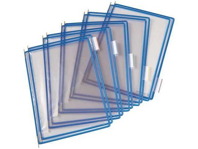 tarifold Zichtpaneel Tarifold A4 PVC blauw/doos10