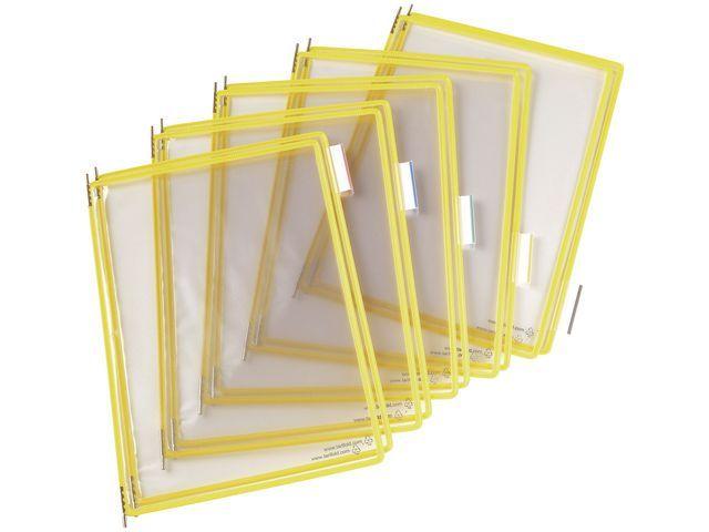 tarifold Zichtpaneel Tarifold A4 PVC geel/doos 10